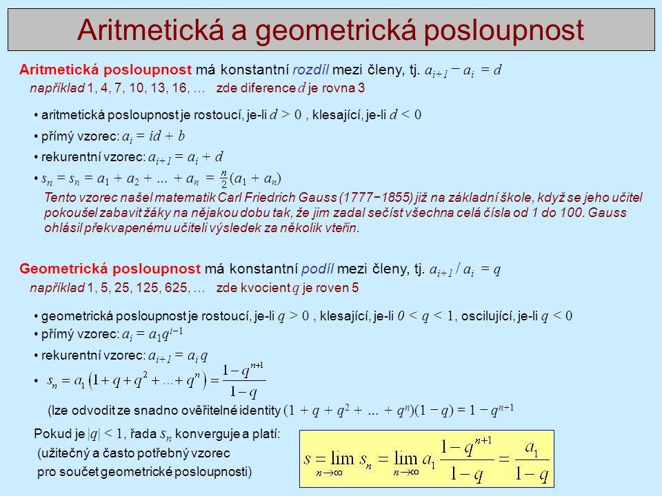 Aritmetická a geometrická posloupnost