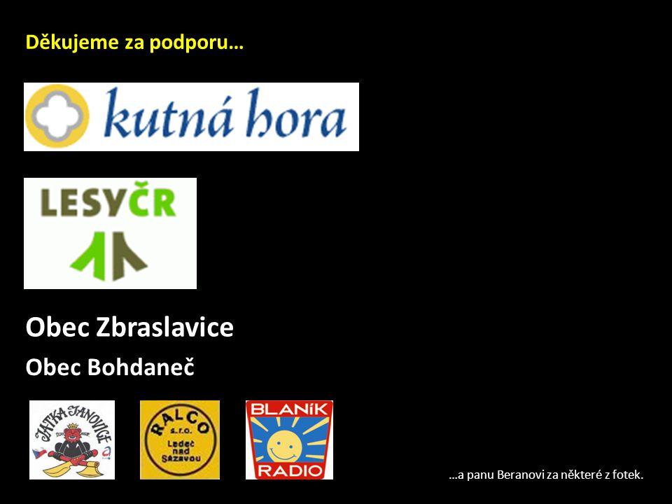 Obec Zbraslavice Obec Bohdaneč Děkujeme za podporu…