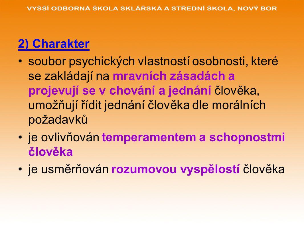 2) Charakter