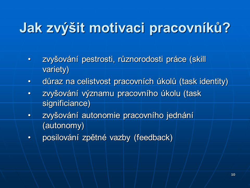 Jak zvýšit motivaci pracovníků