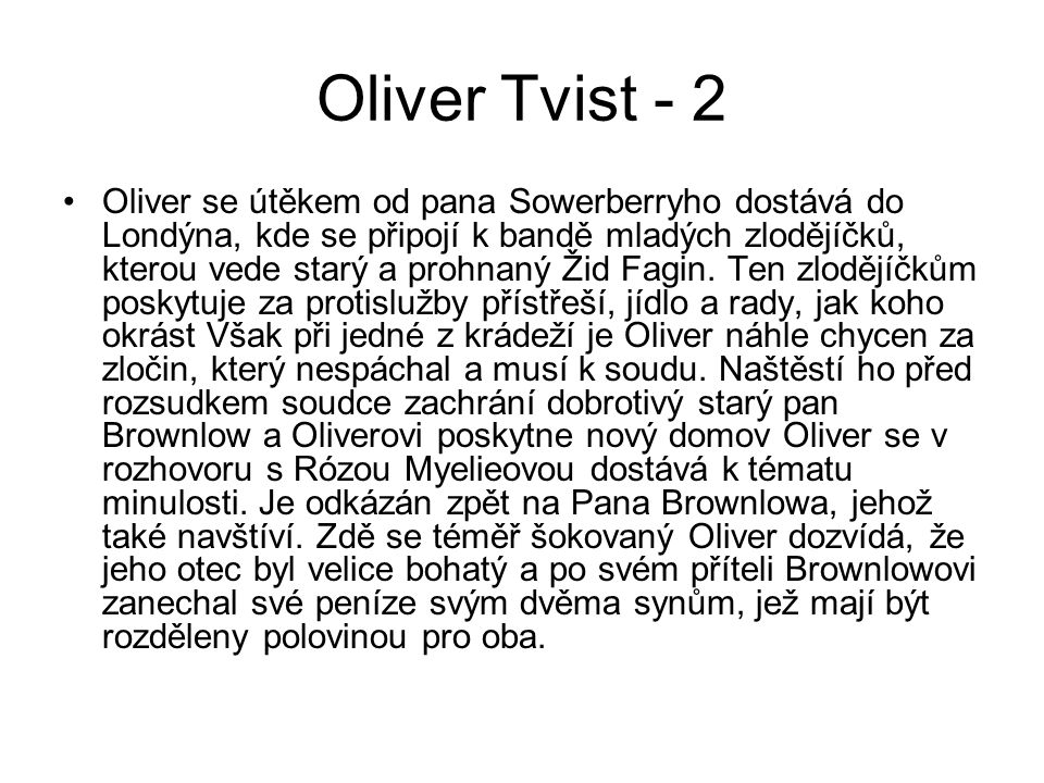 Oliver Tvist - 2