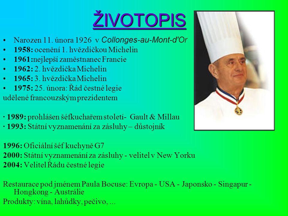 ŽIVOTOPIS Narozen 11. února 1926 v Collonges-au-Mont-d Or