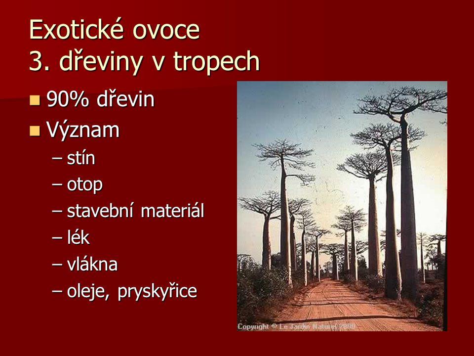 Exotické ovoce 3. dřeviny v tropech