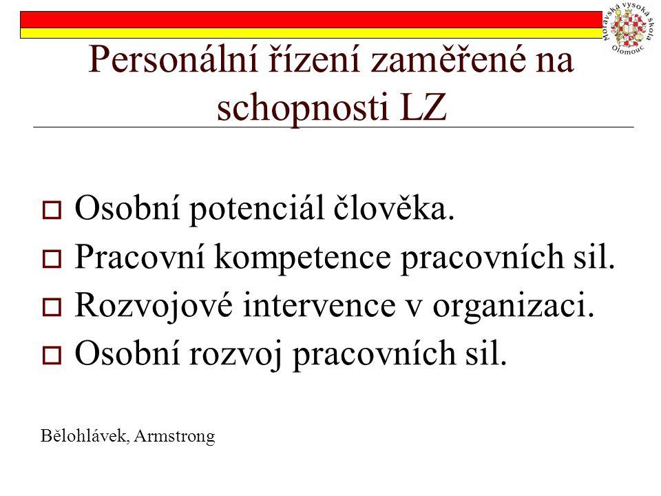 Personální řízení zaměřené na schopnosti LZ