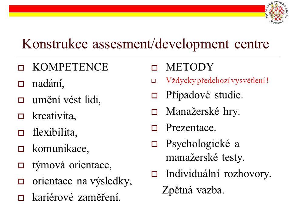 Konstrukce assesment/development centre