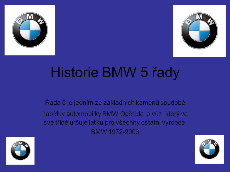 Historie BMW 5 řady