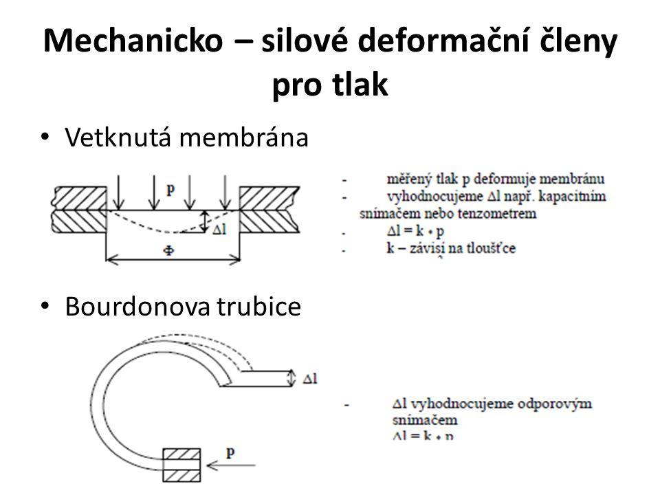 Mechanicko – silové deformační členy pro tlak