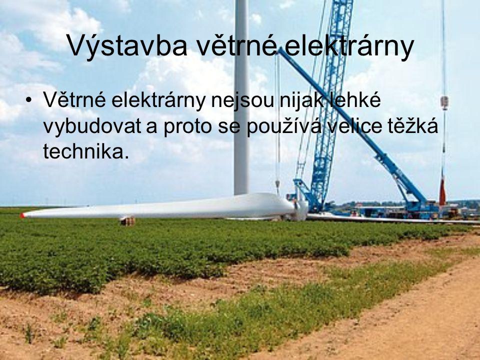 Výstavba větrné elektrárny