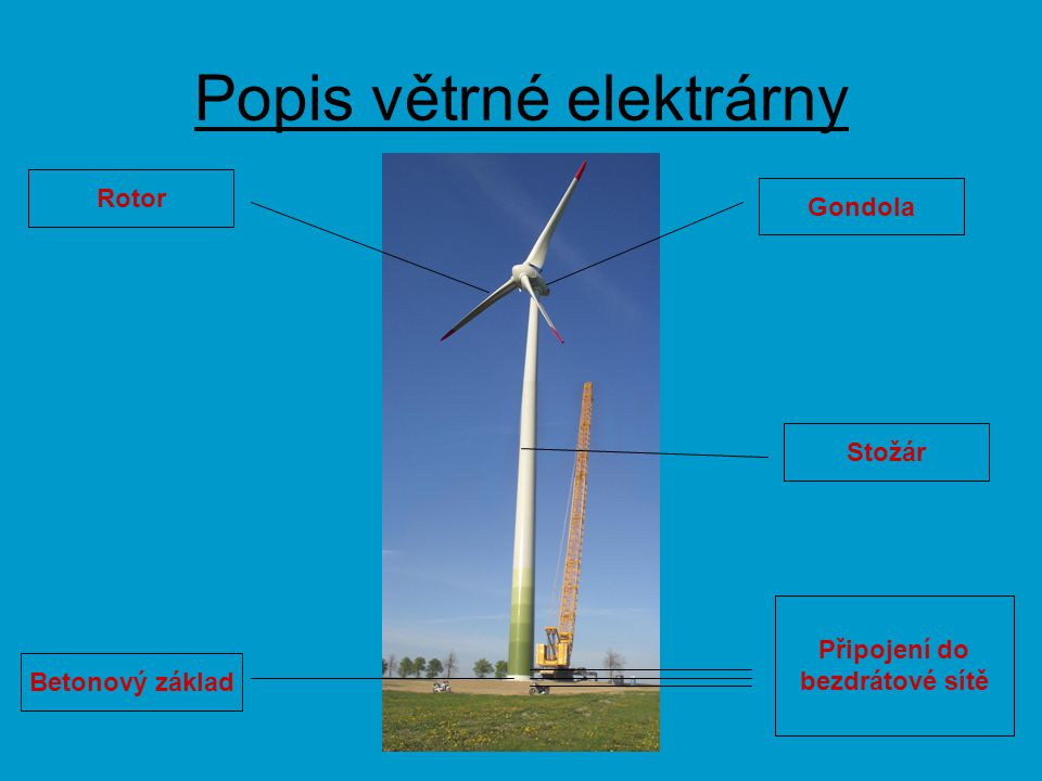 Popis větrné elektrárny