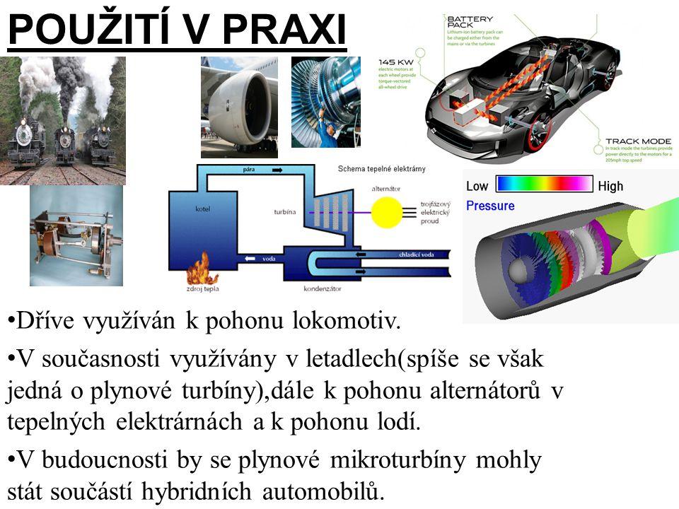 PoužiTÍ V PRAXI Dříve využíván k pohonu lokomotiv.