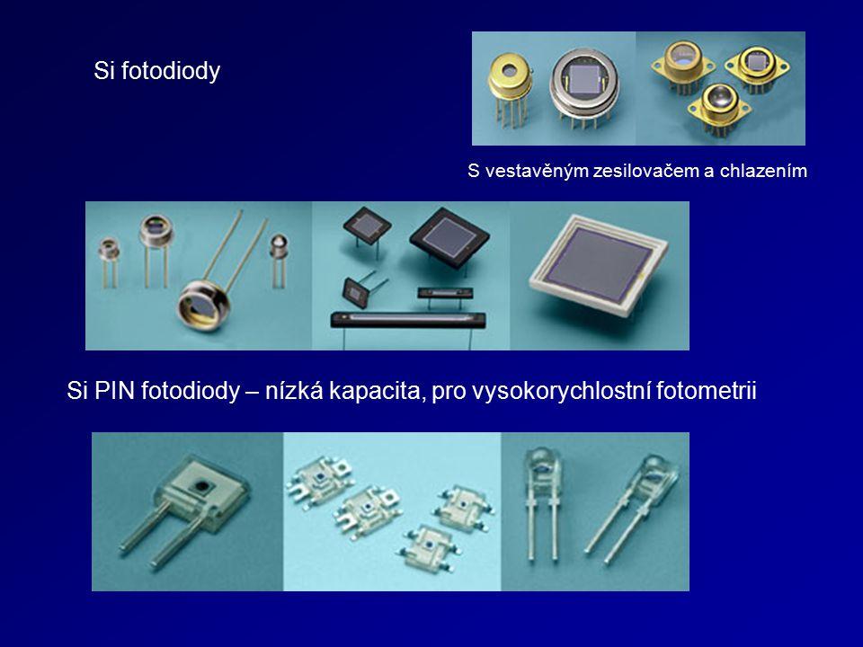 Si PIN fotodiody – nízká kapacita, pro vysokorychlostní fotometrii