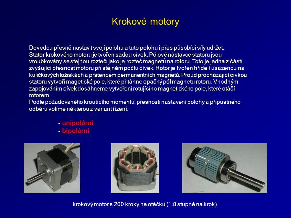 Krokové motory - bipolární