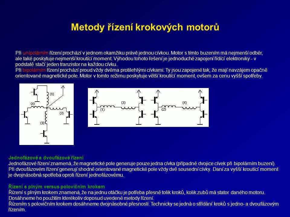 Metody řízení krokových motorů