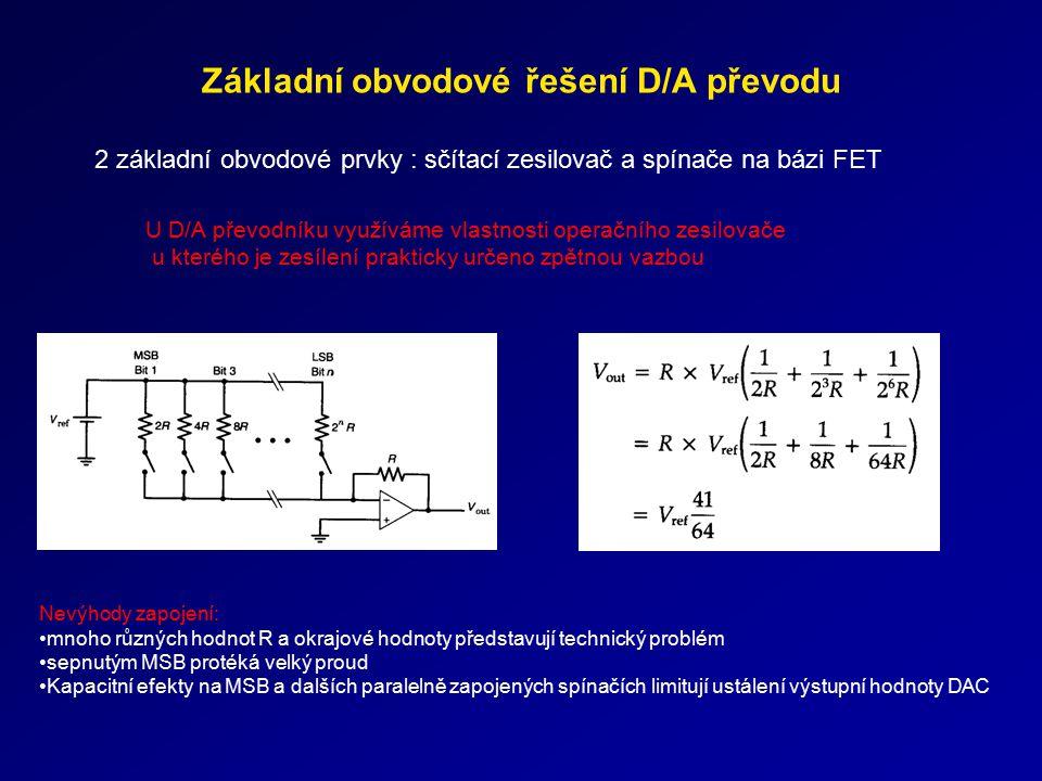 Základní obvodové řešení D/A převodu