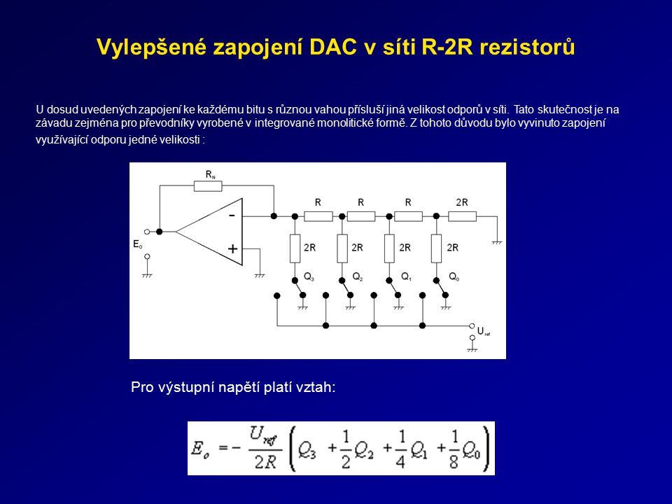 Vylepšené zapojení DAC v síti R-2R rezistorů