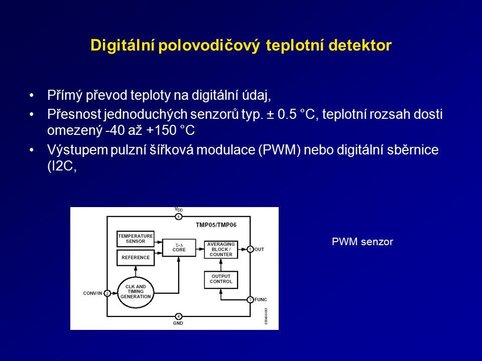 Digitální polovodičový teplotní detektor
