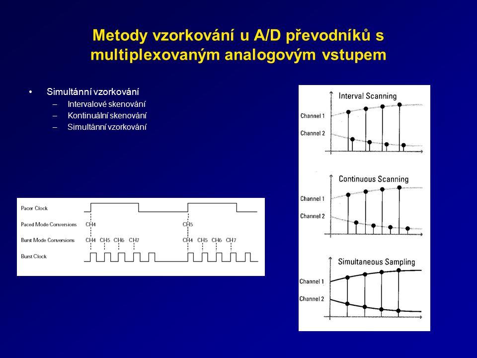 Metody vzorkování u A/D převodníků s multiplexovaným analogovým vstupem