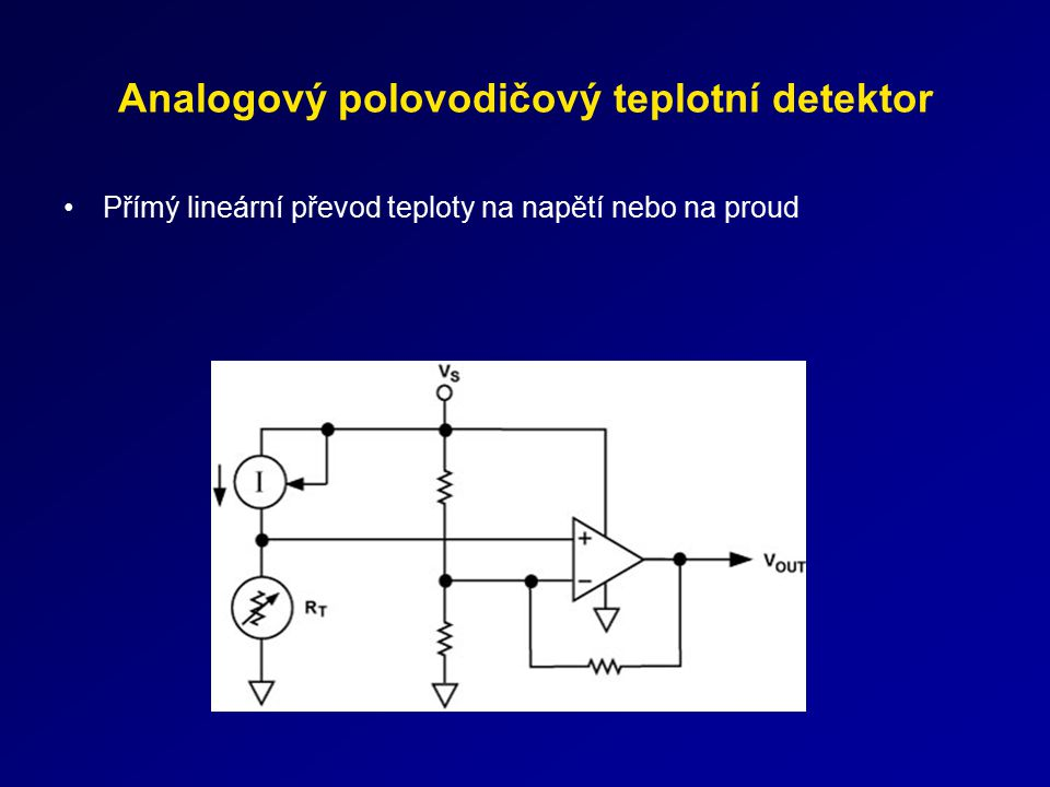 Analogový polovodičový teplotní detektor