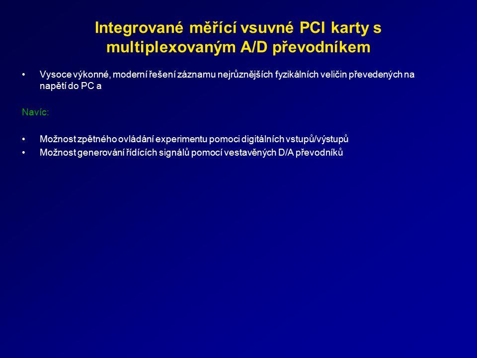 Integrované měřící vsuvné PCI karty s multiplexovaným A/D převodníkem