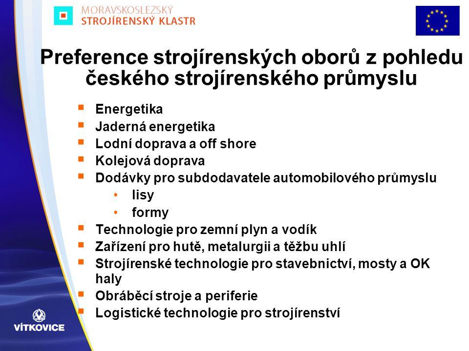 Preference strojírenských oborů z pohledu českého strojírenského průmyslu