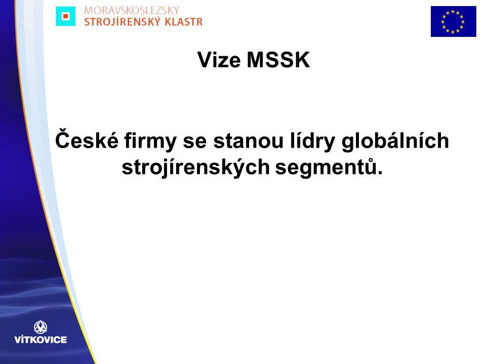 České firmy se stanou lídry globálních strojírenských segmentů.