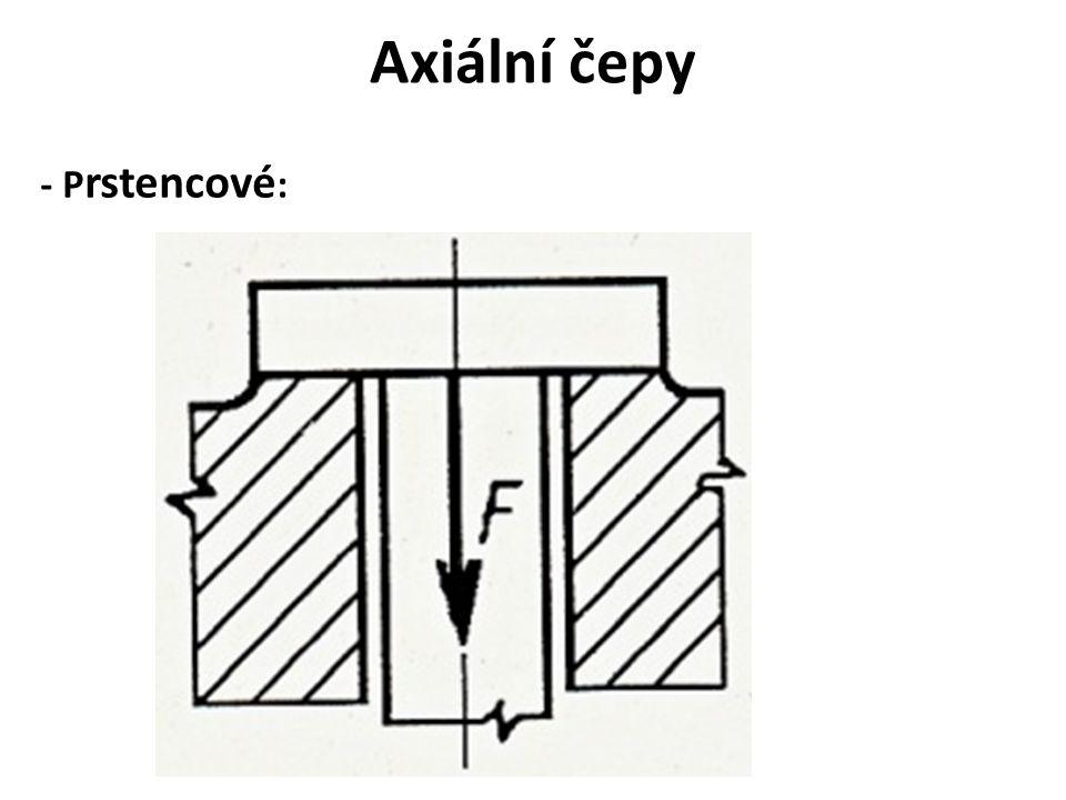 Axiální čepy - Prstencové: