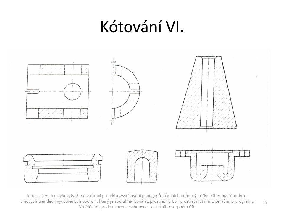 Kótování VI.