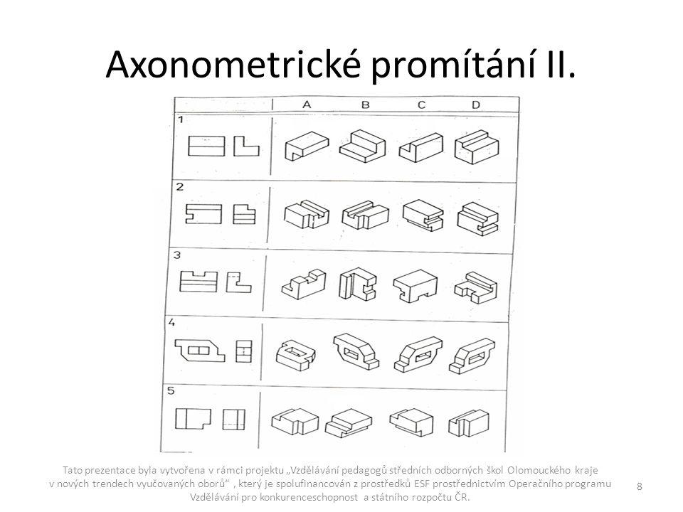 Axonometrické promítání II.