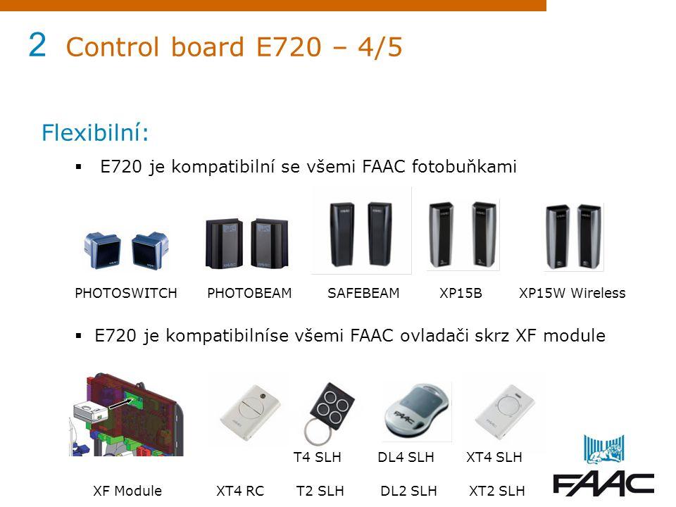 2 Control board E720 – 4/5 Flexibilní: