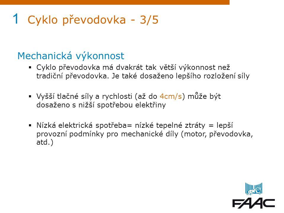 1 Cyklo převodovka - 3/5 Mechanická výkonnost