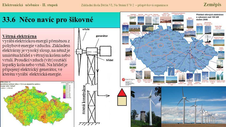 33.6 Něco navíc pro šikovné Větrná elektrárna