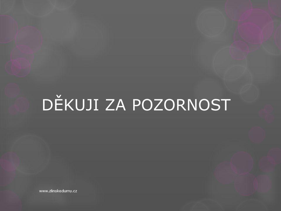 DĚKUJI ZA POZORNOST www.zlinskedumy.cz