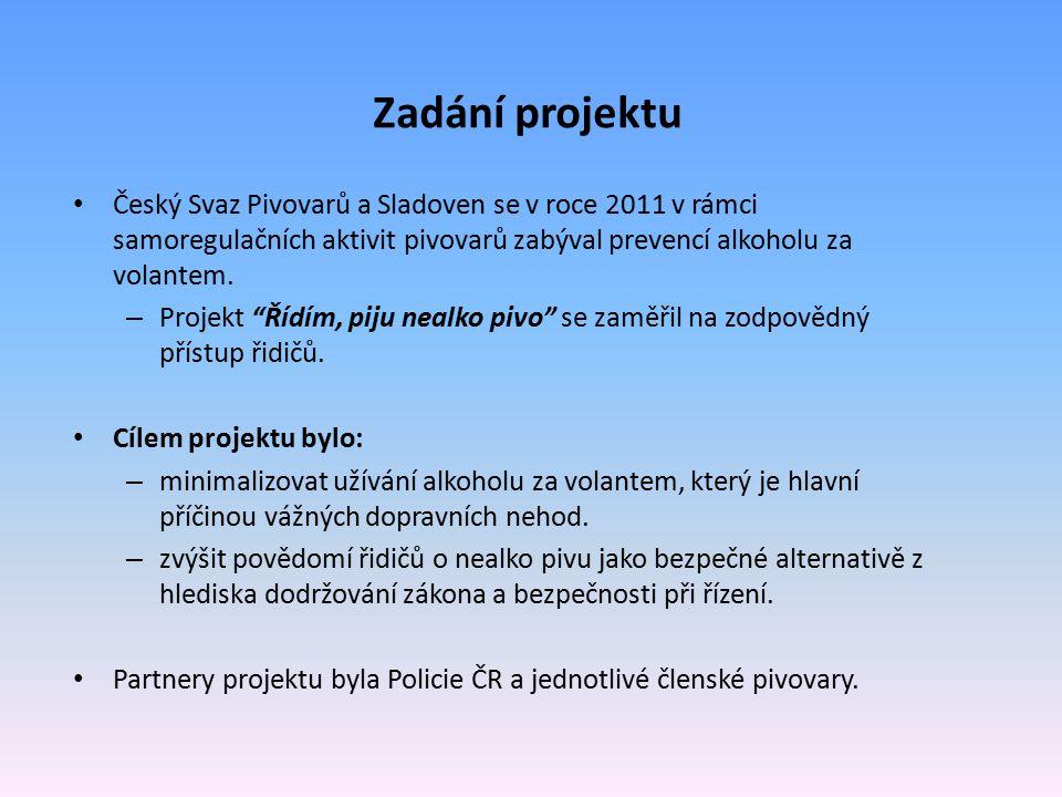 Zadání projektu Český Svaz Pivovarů a Sladoven se v roce 2011 v rámci samoregulačních aktivit pivovarů zabýval prevencí alkoholu za volantem.