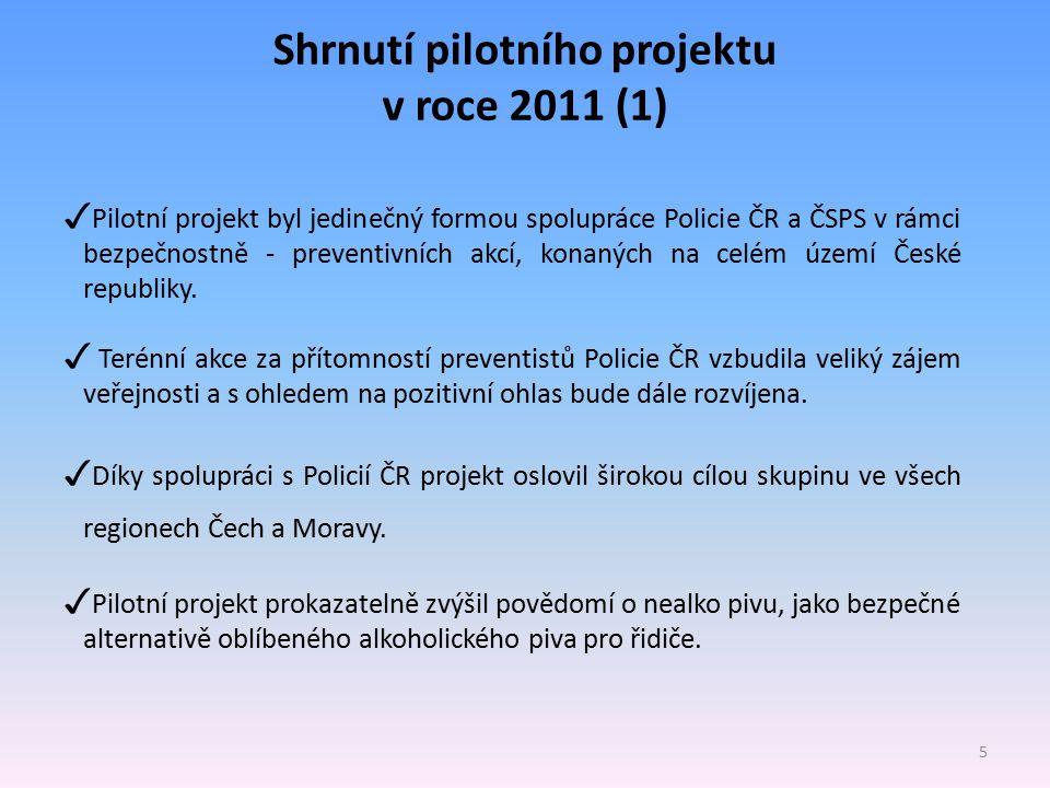 Shrnutí pilotního projektu v roce 2011 (1)
