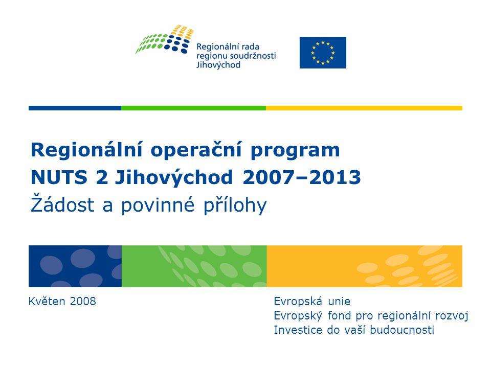 Regionální operační program NUTS 2 Jihovýchod 2007–2013