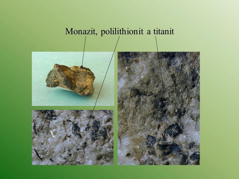 Monazit, polilithionit a titanit