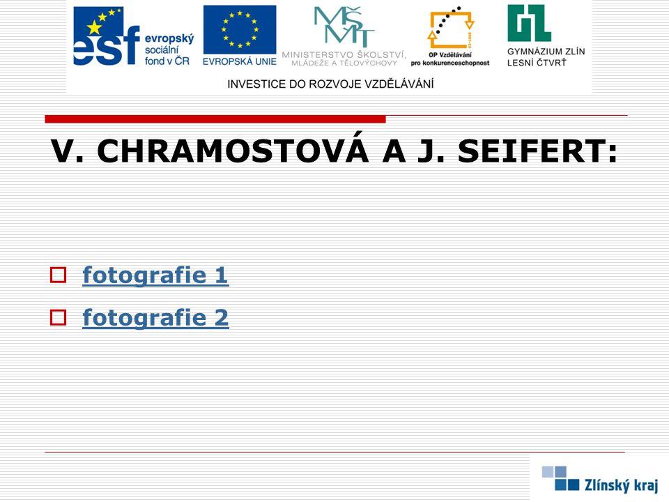 V. CHRAMOSTOVÁ A J. SEIFERT: