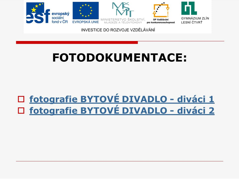 FOTODOKUMENTACE: fotografie BYTOVÉ DIVADLO - diváci 1
