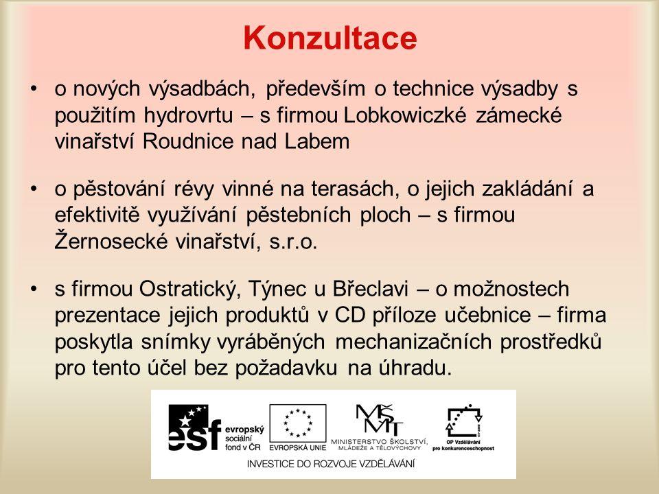 Konzultace o nových výsadbách, především o technice výsadby s použitím hydrovrtu – s firmou Lobkowiczké zámecké vinařství Roudnice nad Labem.