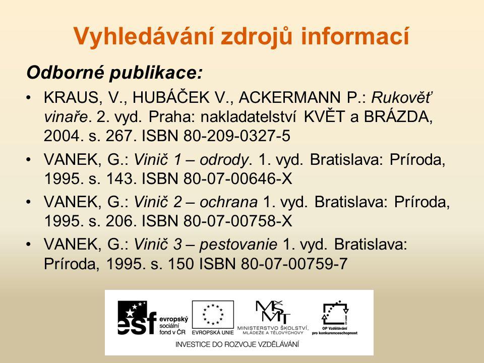Vyhledávání zdrojů informací