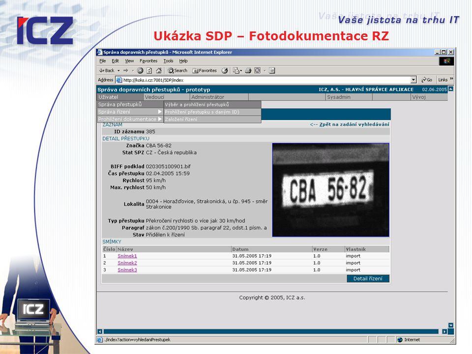 Ukázka SDP – Fotodokumentace RZ