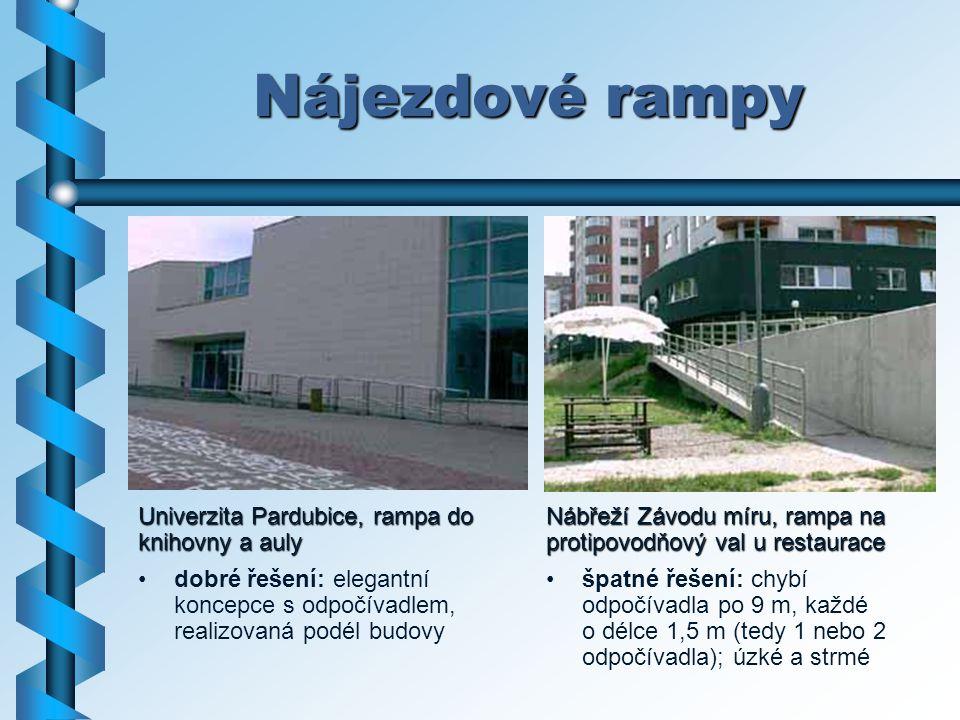 Nájezdové rampy Univerzita Pardubice, rampa do knihovny a auly