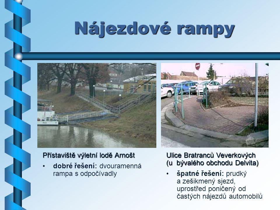 Nájezdové rampy Přístaviště výletní lodě Arnošt