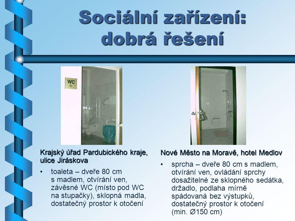 Sociální zařízení: dobrá řešení
