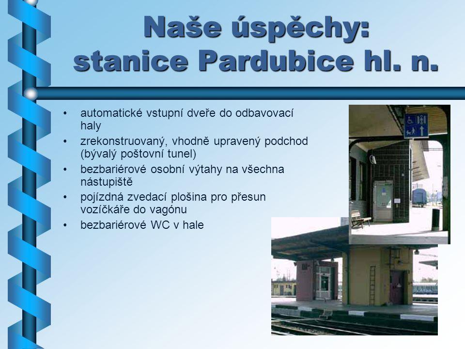 Naše úspěchy: stanice Pardubice hl. n.