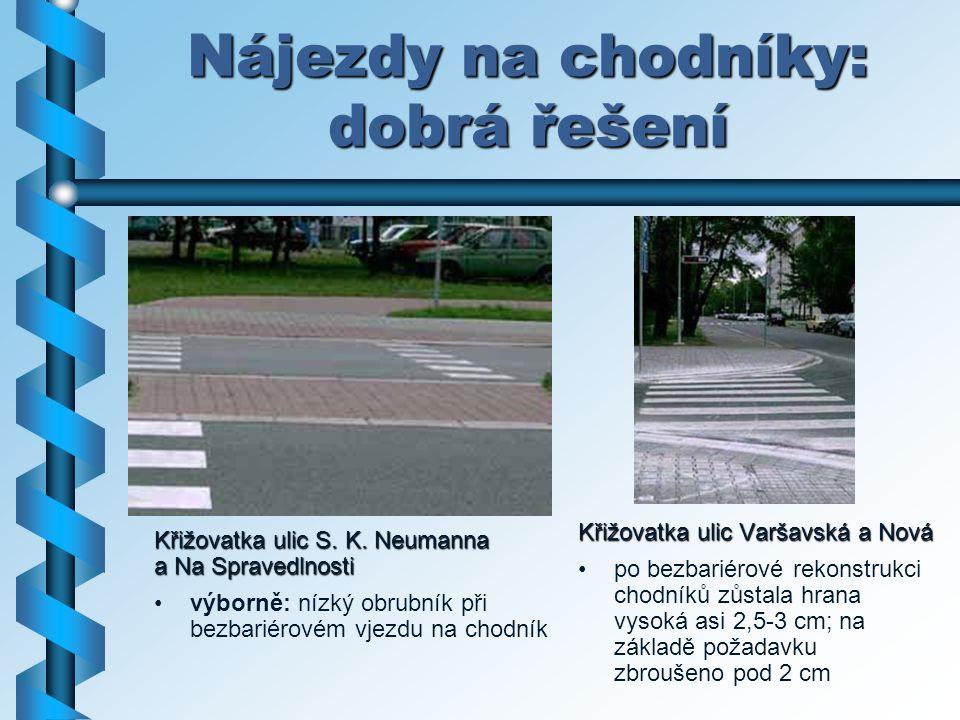 Nájezdy na chodníky: dobrá řešení
