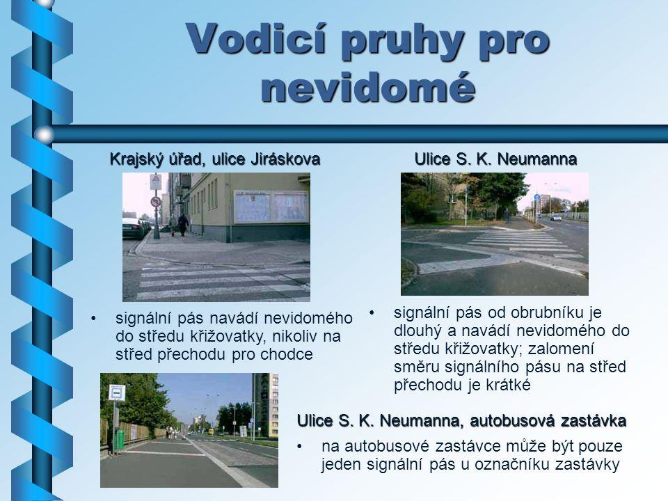 Vodicí pruhy pro nevidomé