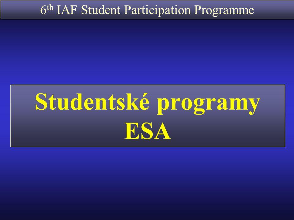 Studentské programy ESA
