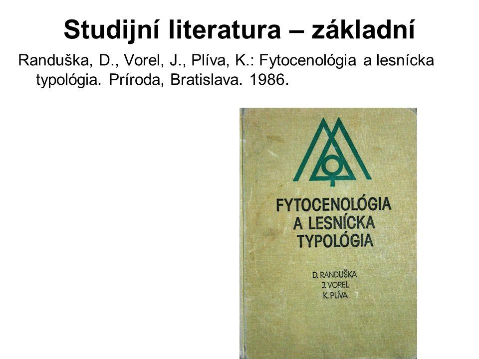 Studijní literatura – základní