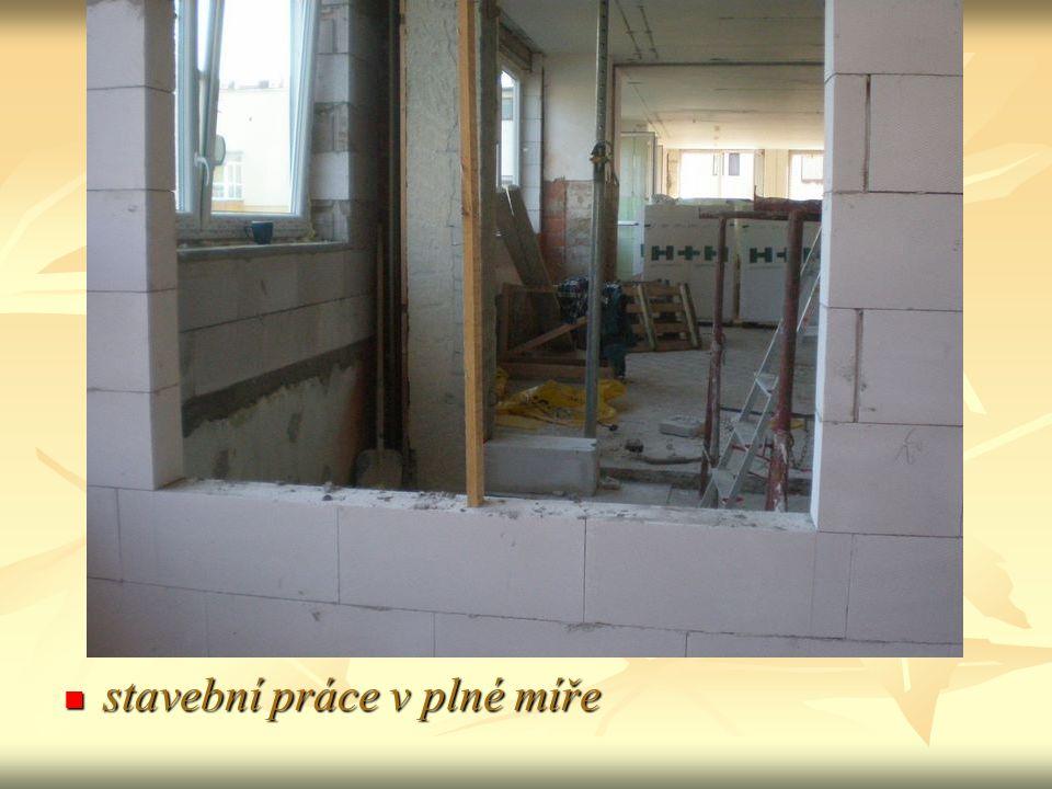 stavební práce v plné míře